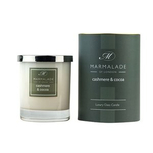 Marmalade of London Cashmere and Cocoa Glass Candle
