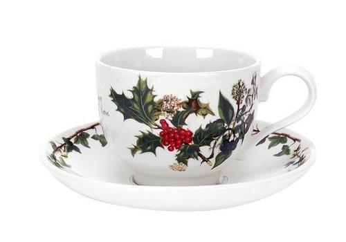 Portmeirion Holly & Ivy Teacup & Saucer