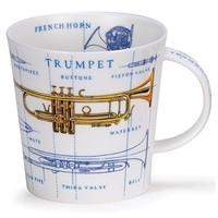 Dunoon Cairngorm Music Icons Mug - Brass