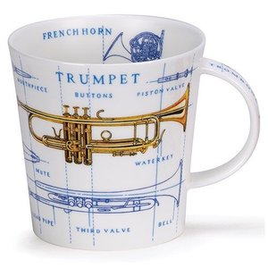 Dunoon Dunoon Cairngorm Music Icons Mug - Brass