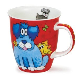 Dunoon Nevis Dogs & Puppies Mug - Red
