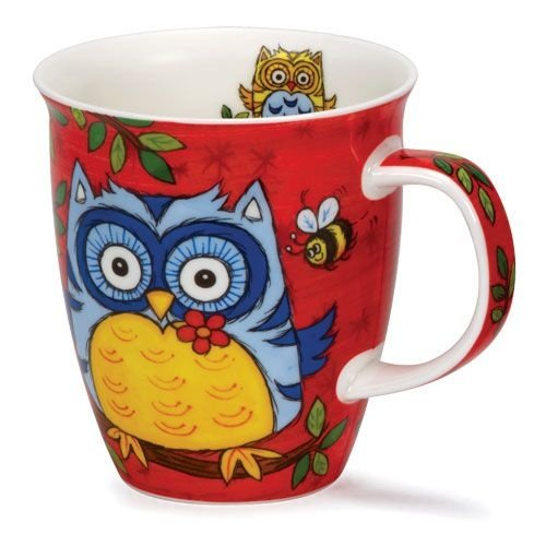 Dunoon Dunoon Nevis Owls Mug - Red