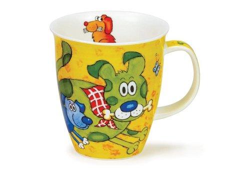 Dunoon Nevis Dogs & Puppies Mug - Yellow