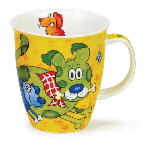 Dunoon Dunoon Nevis Dogs & Puppies Mug - Yellow