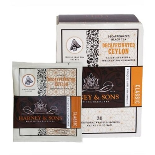 Harney & Sons Harney & Sons Decaf Ceylon Box of 20 Wrapped Sachets