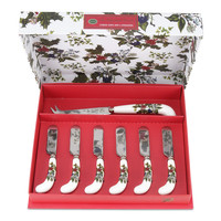 Holly & Ivy Cheese Knife & 6 Spreaders