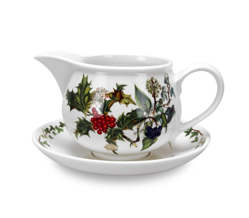 Holly & Ivy Gravy Boat with Stand