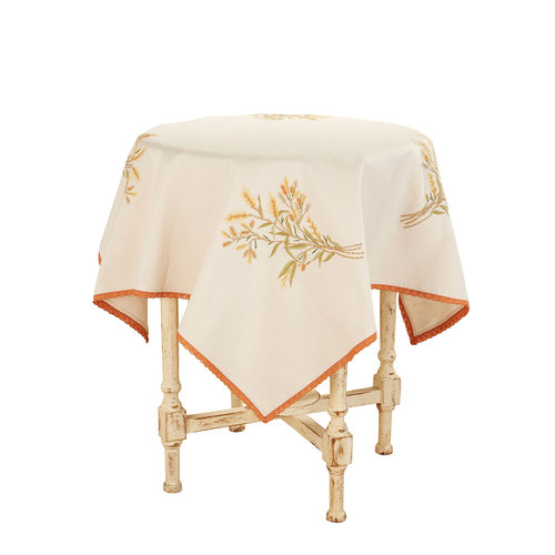 April Cornell Golden Fields Square Tablecloth