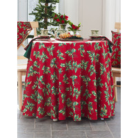 Holly Round Red Table Cloth