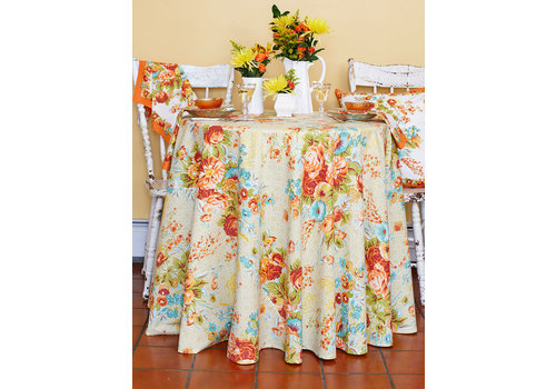 April Cornell Marion Harvest Round Tablecloth