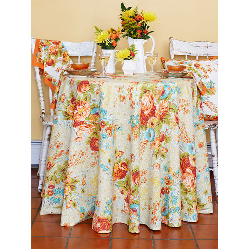 April Cornell Marion Harvest Round Table Cloth