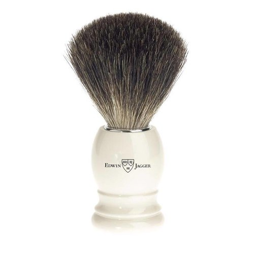 Edwin Jagger Edwin Jagger Best Black Badger Shaving Brush - Imitation Ivory