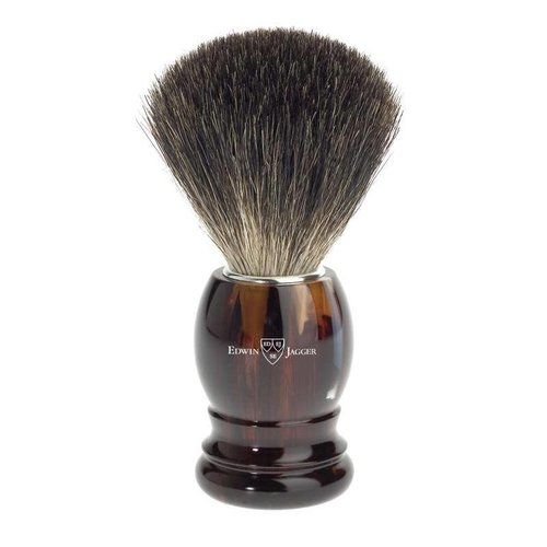 Edwin Jagger Edwin Jagger Best Black Badger Shaving Brush - Imitation Tortoise Shell