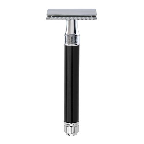 Edwin Jagger Edwin Jagger Long Handled Black Safety Shaving Razor (DEL8614bl)