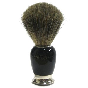 Edwin Jagger Edwin Jagger Pure Badger Nickel Plated Shaving Brush - Imitation Ebony