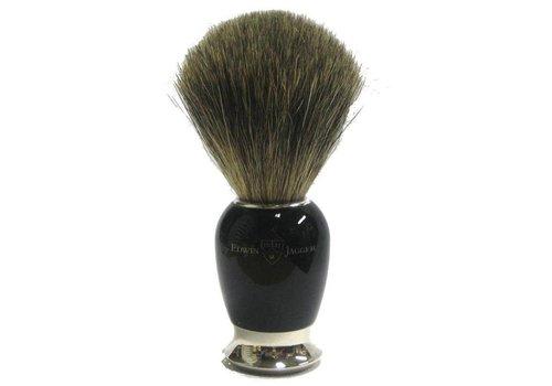 Edwin Jagger Edwin Jagger Pure Badger Nickel Plated Shaving Brush - Imitation Ebony