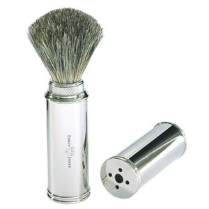 Edwin Jagger Edwin Jagger Pure Badger Nickel Plated Travel Shaving Brush