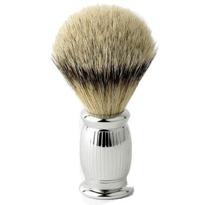 Edwin Jagger Edwin Jagger Silver Tip Badger Bulbous Lined Shaving Brush