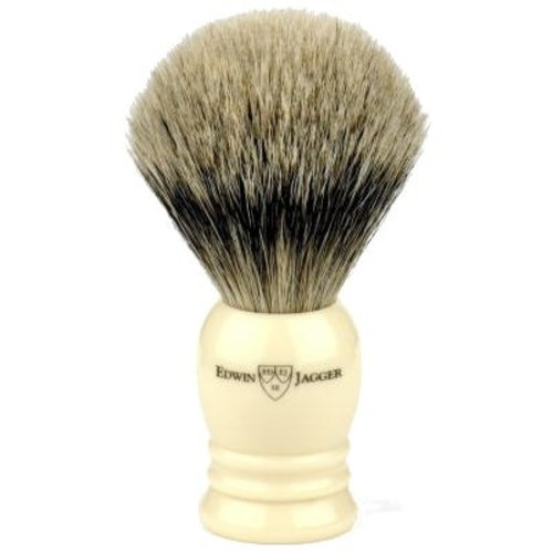 Edwin Jagger Edwin Jagger Super Badger Shaving Brush - Imitation Ivory