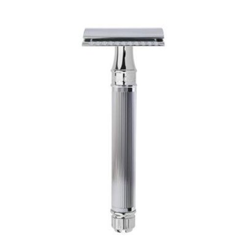 Edwin Jagger Edwin Jagger Traditional Safety Razor - Lined Chrome