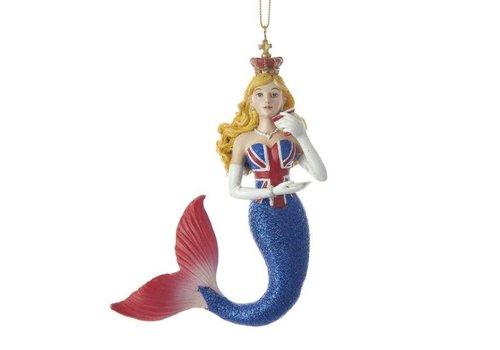 "Kurt Adler 4"" Kurt S. Adler Union Jack Mermaid Ornament"