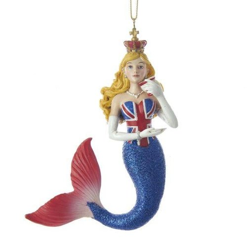 "Kurt Adler 4"" Kurt S. Adler Union Jack Mermaid Ornament"