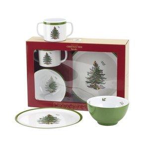 Spode Spode Christmas Tree 3-Piece Feeding Set