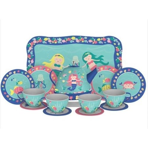 Schylling Schylling Mermaid Tin Tea Set