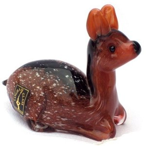 Langham Glass Glass Fawn Resting -Small