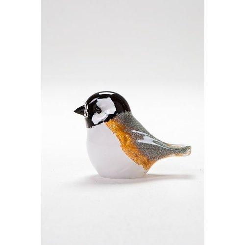 Langham Glass Chickadee Glass Figurine