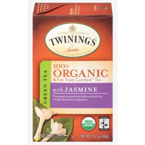 Twinings Twinings Organic Green Tea with Jasmine 20s