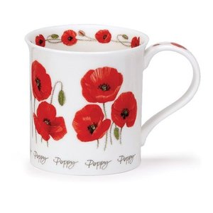 Dunoon Bute Summer Flowers Poppy Mug