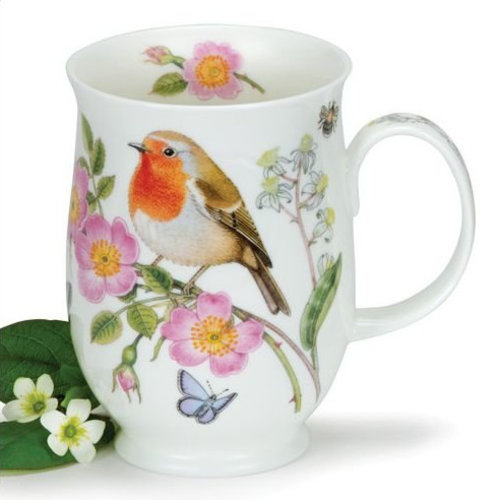 Dunoon Dunoon Suffolk Hedgerow Birds Robin Mug