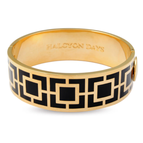 Halcyon Days Halcyon Days Maya Bangle - Black and Gold