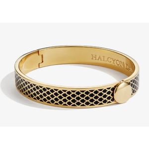 Halcyon Days Halcyon Days Salamander Bangle - Black and Gold