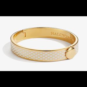Halcyon Days Halcyon Days Salamander Bangle - Cream and Gold