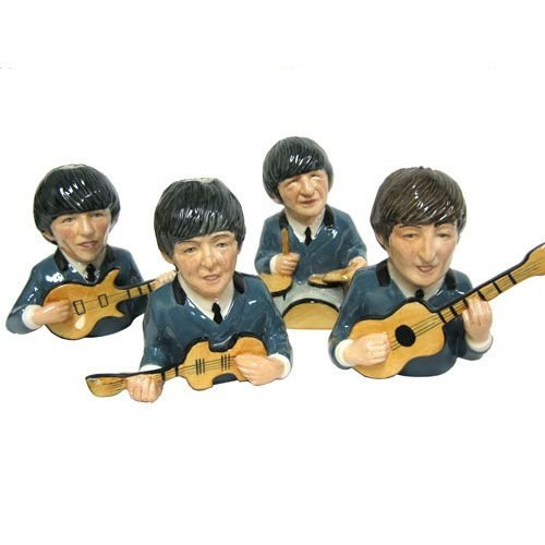 Bairstow Manor Pottery Legends of Rock Busts Set - Blue