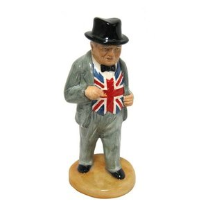 Bairstow Manor Pottery Walking Winston Churchill Statuette