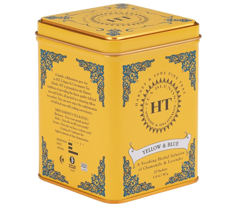 Harney and Sons Yellow and Blue 20s Tin