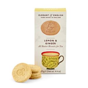 Elegant & English Lemon and Ginger Shortbread Biscuits