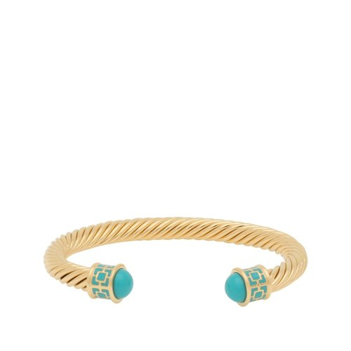 Halcyon Days Maya Turquoise and Gold Torque Bangle