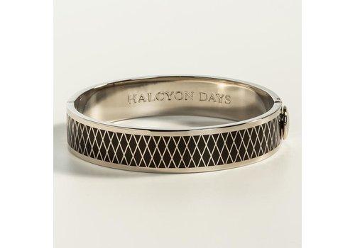Halcyon Days Parterre Black and Palladium Bangle