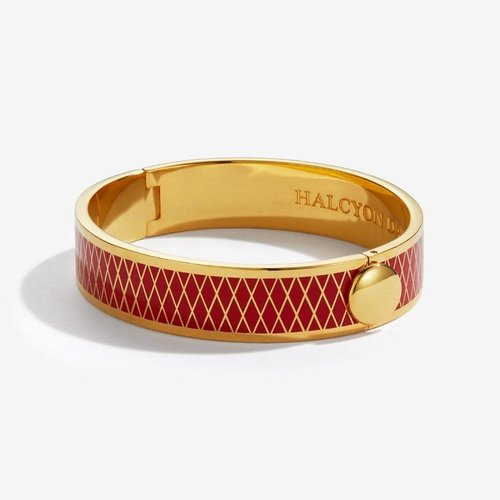 Halcyon Days Parterre Red and Gold Bangle