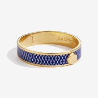 Parterre Deep Cobalt and Gold Bangle