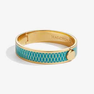 Halcyon Days Parterre Turquoise and Gold Bangle
