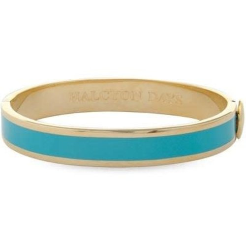 Halcyon Days Halcyon Days Plain Bangle - Turquoise and Gold