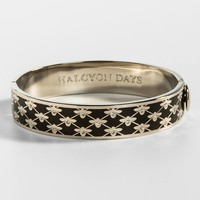 Bee Sparkle Trellis Black and Palladium Bangle