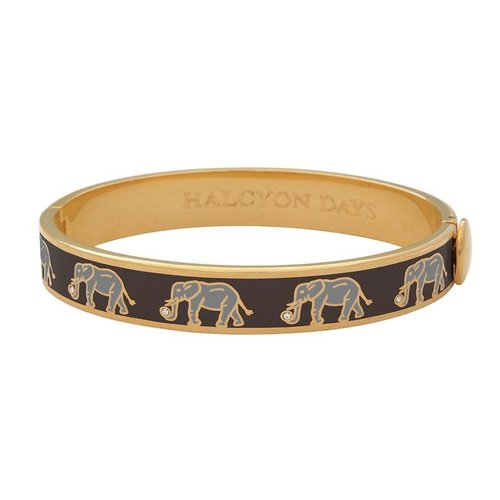 Halcyon Days Black and Gold Elephant Bangle