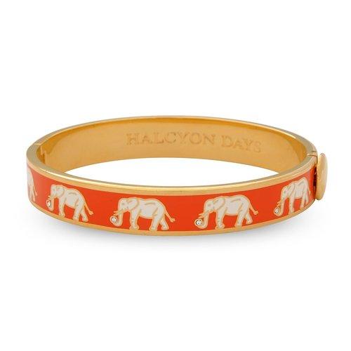 Halcyon Days Orange and Gold Elephant Bangle