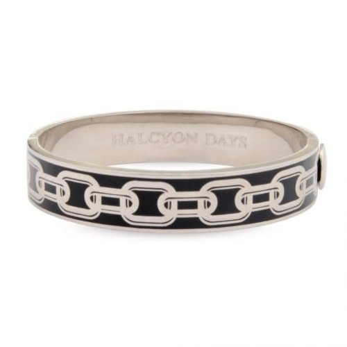 Halcyon Days Chain Bangle Black/Palladium